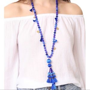 ♠️ Kate Spade Pretty Poms tassel necklace, blue